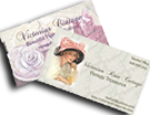Custom business cards, victorian decals, shabby chic decals